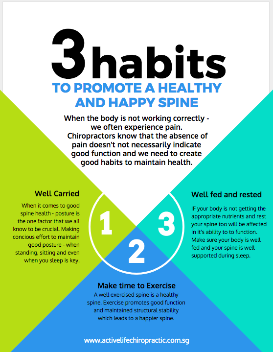 healthy spine habit